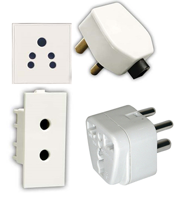Electrical plugs used in India